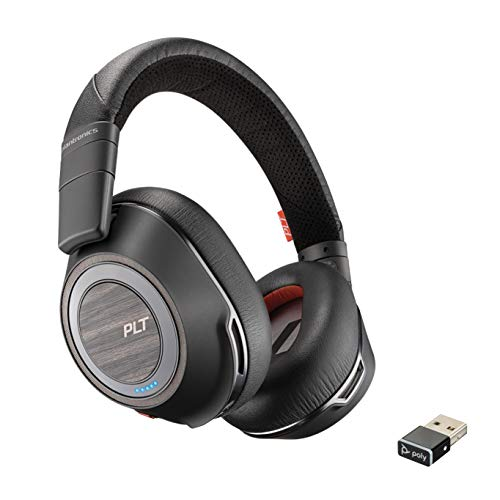Plantronics - Voyager 8200 UC (Poly) - Bluetooth Dual-Ear (Stereo) Headset - USB-A Compatible to connect to your PC and Mac - Works with Teams, Zoom & more - Dual-Mode Active Noise Canceling