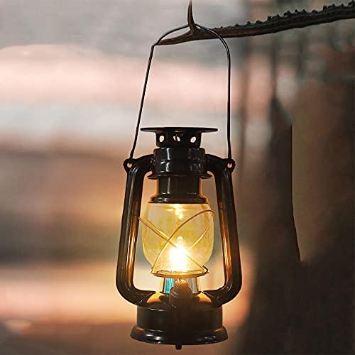 LONG-L Linterna Solar Exterior Lámpara De Jardín,Impermeable Luces LED Colgar Llama Exterior Decorativa Iluminación para Mesa Patio Festival Navidad Decoracion Jardin