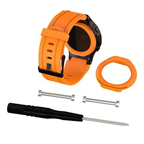 XUEMEI Banda de Reloj de Pulsera de reemplazo de Silicona + Cubierta de Caja para Garmin Forerunner 225 Reloj de Reloj con Herramienta Correas Deportivas al Aire Libre Pulsera (Color : Orange)