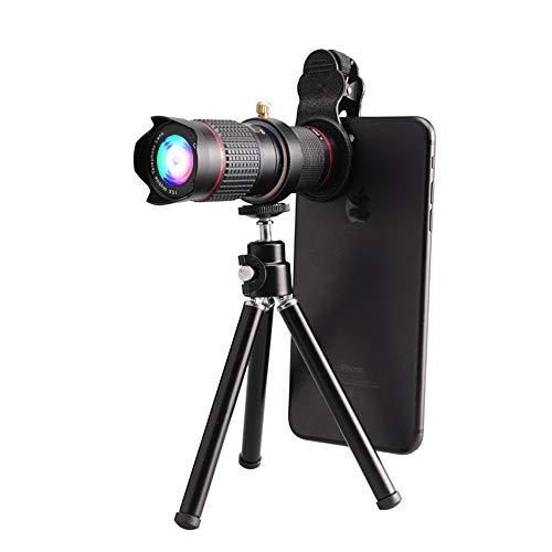 NNBB Kit de Lente Zoom de la cámara del teléfono móvil, HD 15x telescopio óptico trípode Lente de Zoom para el iPhone 6/7/6 PLE/SE, Samsung, Google, LG y la mayoría de los teléfonos móviles