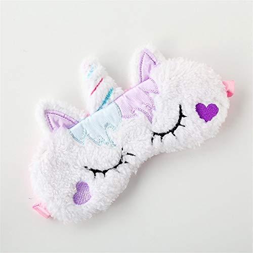 Máscara para dormir a la luz de bloque Felpa unicornio almohada ojo del sueño, de dibujos animados 3D máscara for los ojos del sueño lindo, bloqueo de la luz y transpirable, cómodo de llevar, adecuado