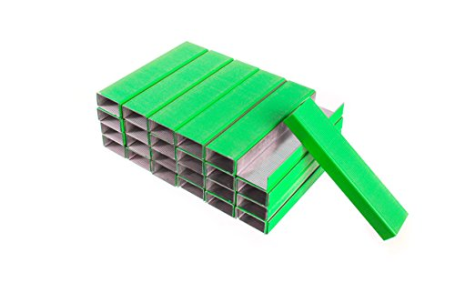 PraxxisPro Staples, Standard Size Chisel Point Staples 26/6, Green, 5000 Count