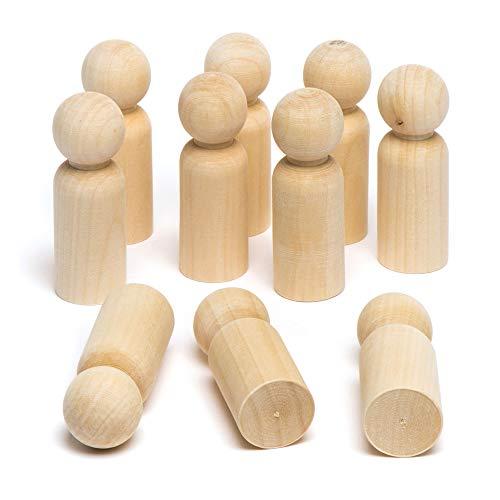 Baker Ross Blanko-Stabfiguren aus Holz für Kinder - Kreatives Bastelmaterial zum Dekorieren (10 Stück)