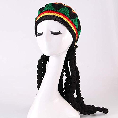 pruiken Baret dames wollen hoed buiten Halloween accessoires hoed herfst en winter vuile vlecht baret