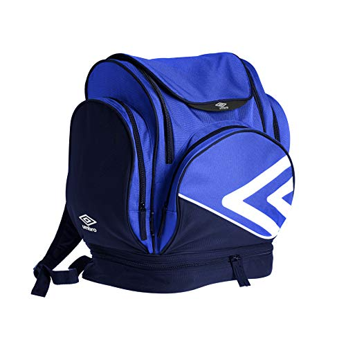 Umbro Pro Training Mochila Tipo Casual, 45 cm, 35 litros, Royal/Dark Navy/White