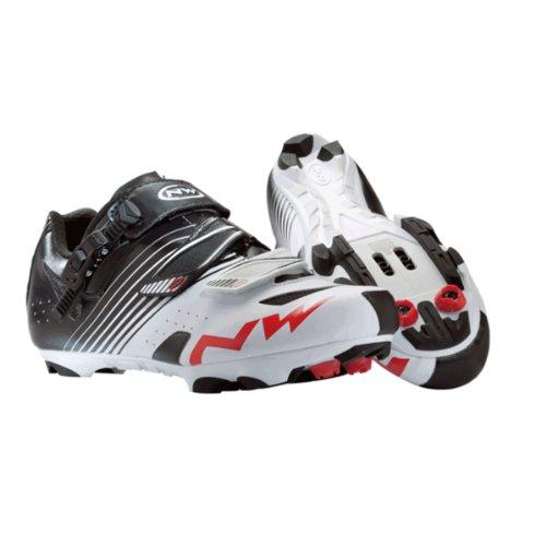 Northwave 80142003–51–scarpe da ciclismo, Bianco/Opaco, 42 UE
