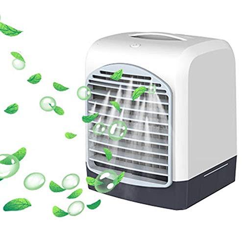Enjoyyouselves Refrigerador de aire portátil 3 en 1, USB, aire acondicionado, ventilador, humidificador, ventilador, portátil, para casa, dormitorio, oficina
