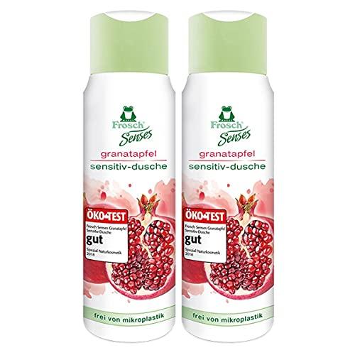 Frosch Senses Granatapfel Sensitiv-Dusche, Duschgel für empfindliche Haut geeignet, pH-hautneutral & vegan, ohne Mikroplastik, 2er Pack (2 x 300 ml)