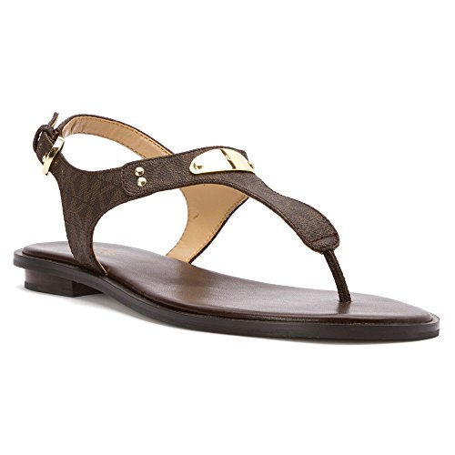 Michael Michael Kors Womens Plate Thong Open Toe Casual Slide Sandals
