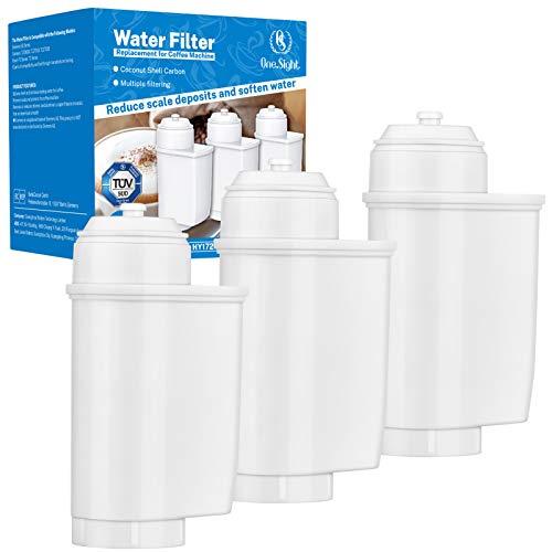 Onesight Wasserfilter für Siemens EQ6, EQ9, EQ Series, TZ70003, TZ70033 Wasserfilter für Brita Intenza, Bosch TCZ7003, TCZ-7003, TCZ7033 TÜV Kaffeevollautomat Filterkartuschen TÜV