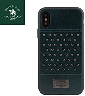 Apple Iphone X Staccato Santa Barbara Polo Racquet Club Leather Luxury Case (Green)