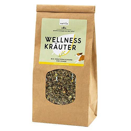 naftie Bio Wellness Kräuter Mix   Kräutermischung getrocknet für ausgewachsene & Senior-Hunde   Barfkräuter Barf-Zusatz   100% veganes Naturprodukt   200g