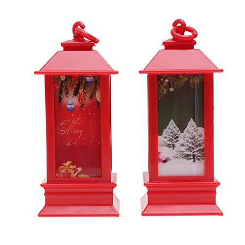 PRETYZOOM - Mini lanternes décoratives à suspendre - Décoration de bureau - Motif aléatoire