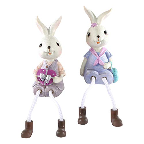 Bunny Resin Figurines Table Rabbit Decoration for Home Decoration Ornaments Office Decoration