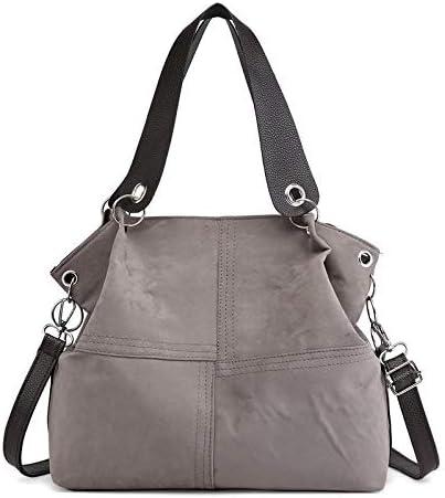 malimaha Shoulder Bags Luxury Designer Handbags Soft PU Leather Shoulder Bags for Women Crossbody Messenger Bag Casual Big Capacity Vintage Hobos Bag (Color : Gray, Size : 31x12x28cm)