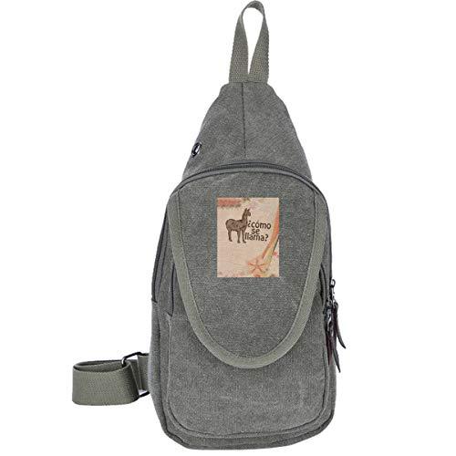 AHISHNF Lätzchen Como Se Llama Reisetasche Brusttasche für Herren und Damen, Mehrzweck-Tagesrucksack, Wandern, Schultertasche