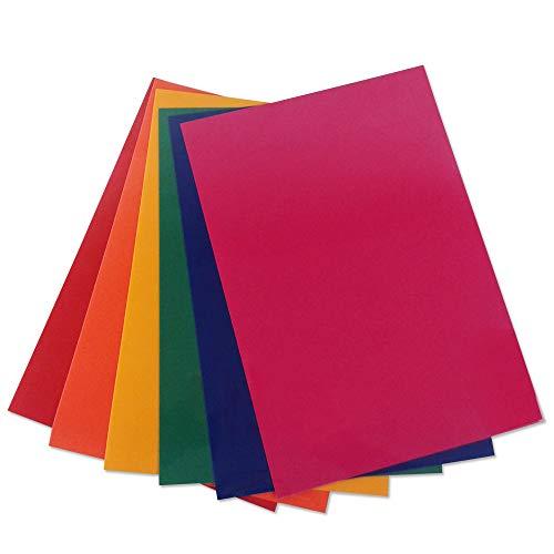 HappyFabric Plotterfolie Flock für Textilien: Folienset Regenbogen