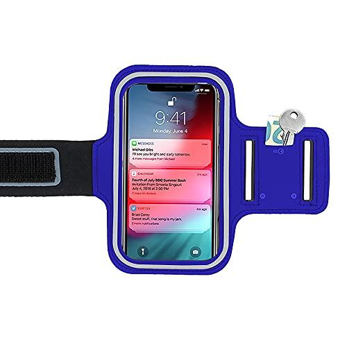 N NEWTOP FTN03 - Funda de brazo deportiva reflectante para fitness, soporte universal compatible con smartphones de 3,5 a 5 pulgadas (negro)