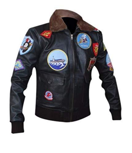 Feather Skin Echtes Leder Jacke Herren Top Gun Tom Cruise Jacke-XL
