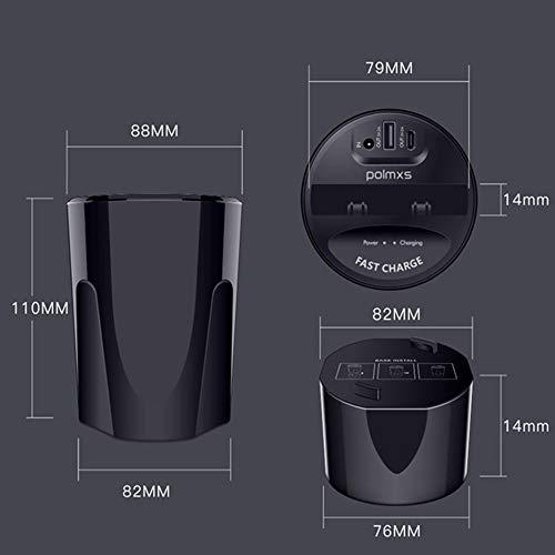ZUKN Qi 10W Car Wireless Charger Cup, Schnellladehalterung mit USB-Ausgang Handyhalter für Huawei P30 Samsung S10 iPhone 8 X Ladestation - 5