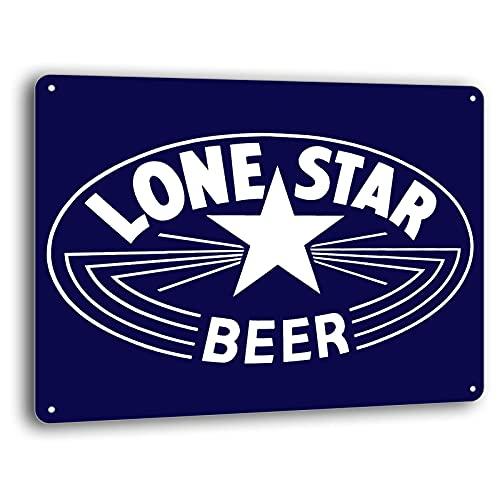 BAYABU Lone Star Beer Texas Retro Vintage Wall Decor Bar Man Cave Metal Tin Sign New 16 x 12 inches