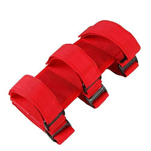 YiGanQiang Feuerlöscher Halter Gurt Auto,Auto Feuerlöscher Gurt,Einstellbare Überrollbügel Feuer Feuerlöscherhalter Oxford-Stoff Befestigungsgurt (Color : Red)