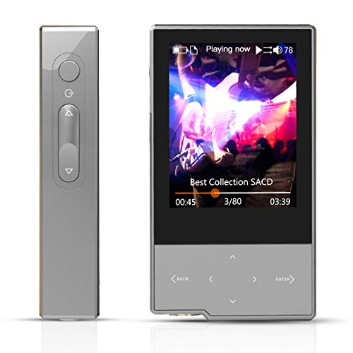 HIDIZS AP60 Ⅱ High Resolution Music Player, Lossless MP3 Player Bluetooth Support Aptx/FLAC/DSD/AAC, Hi-Fi MP3 Player with SD Card Slot (Grey)