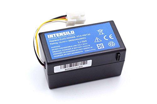 INTENSILO Batería Li-Ion 3400mAh (14.4V) para robot aspidador Samsung Navibot SR8940, SR8950, SR8980, SR8981, VCR8940 como DJ43-00006B, VCA-RBT30.