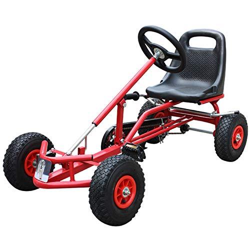 GYFY Bicicleta de Karting para niños. Estructura de Acero Engrosamiento. Rueda Inflable. Bicicleta de Cuatro Ruedas.