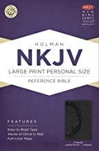 NKJV Large Print Personal Size Reference Bible, Charcoal LeatherTouch Indexed