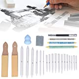 Sketch Drawing Tools, kompaktes und exquisites 26-teiliges Sketch-Set Hochwertiges komprimiertes Papier, langlebige und Flexible Freunde für Heimgeschenke