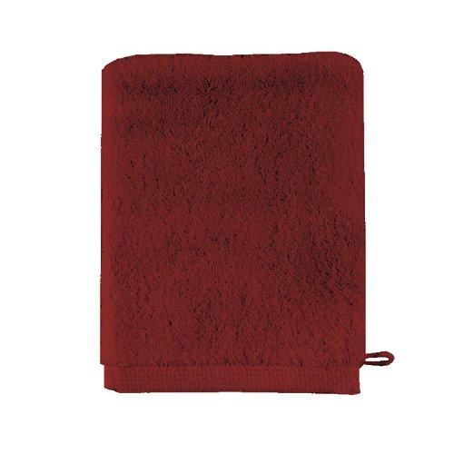 Essix - Gant de Toilette Aqua Coton Rouge garance 16 x 21 cm