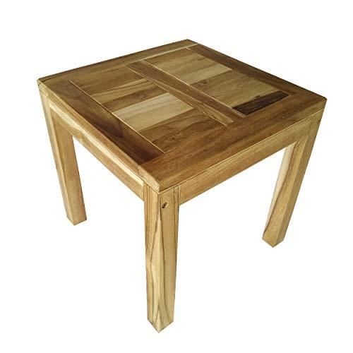 CHICREAT - Mesa de comedor para el jardín de madera maciza de teca, aproximadamente 50 x 50 cm