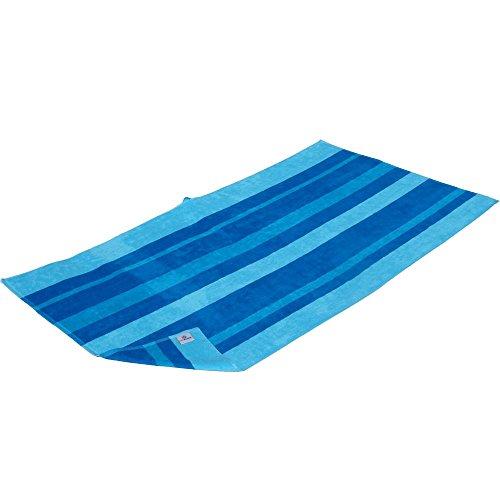 outdoorer Beachfex, Strandtuch, Strandlaken, Duschtuch, Saunatuch, extra groß, in grün oder blau, aus hochwertiger Baumwolle (gestreift)