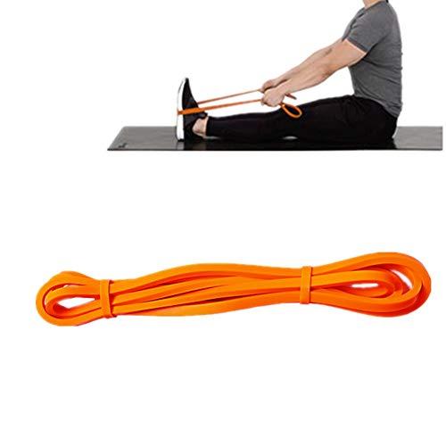 Gertok Cintas Elasticas Musculacion Bandas Elasticas Fitness Bandas elásticas para Gimnasio Bandas de Yoga Equipo de Ejercicio para el hogar Elástico Bandas Orange,2080-6.5-4.5mm