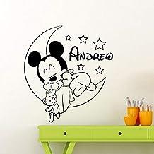yaonuli Souris Vinyle Autocollant Mural nom personnalisé décalque Amovible bébé..