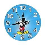 Reloj de pared silencioso que no hace tictac, funciona con pilas, redondo, fácil de leer en el hogar/oficina/aula