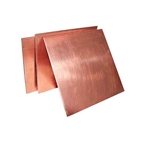 T2 Leitfähige Kupferteller 1mm Dicker roter Copper Square Masse Reine Kupferteller DIY Kupferblech Kupferblock,1 * 100mm*200mm