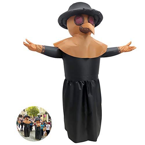 Achort - Disfraz hinchable de Doctor de la Peste (disfraz de Halloween y Halloween, 160-190 cm)