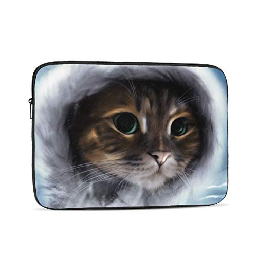 10-17 Inch Laptop Sleeve Multi-Color & Size Choices Case Angel Cat Notebook Waterproof Computer Tablet Carrying Bag Cover