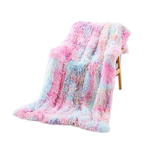 Fansu Kuscheldecke Decke Microfaser 3D Drucken Flauschig Weich Warm Plüsch Wohndecke Fleece Tagesdecke Decke für Sofa & Bett (Tie-Dye-Regenbogen,200x160cm)