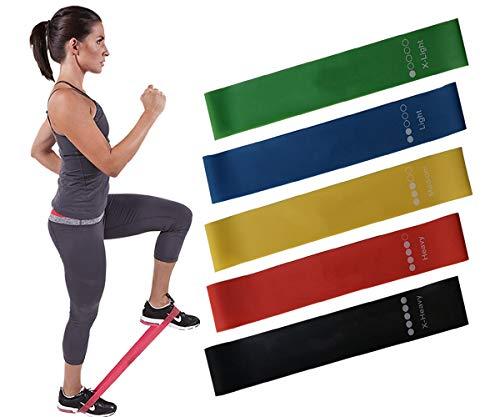 Aujelly Bandas Elasticas Fitness Cintas Elásticas de Resistencia para Yoga, Crossfit, Entrenamiento de Fuerza, Pilates, Fisioterapia