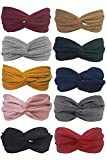 Ergonflow 10 Pack Headbands for Women Boho Bands Twisted Headband Criss Cross Head Wraps Bows Hair Accessories for Women and Girls