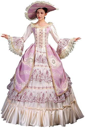 Vestido medieval rococó barroco Marie Antonieta Vestidos de bola del siglo 18 Renacimiento Histórico Vestido de Periodo - - Medium
