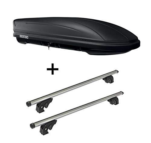 Dachbox MAA 400 Liter matt + Dachträger VDPLION2 kompatibel mit Citroen Grand C4 Picasso (Mk1) (5 Türer) 06-13