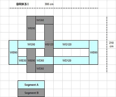 12-teilige modulare Designer Hochglanz Wohnwand Briks I mit großer Farbauswahl - 4