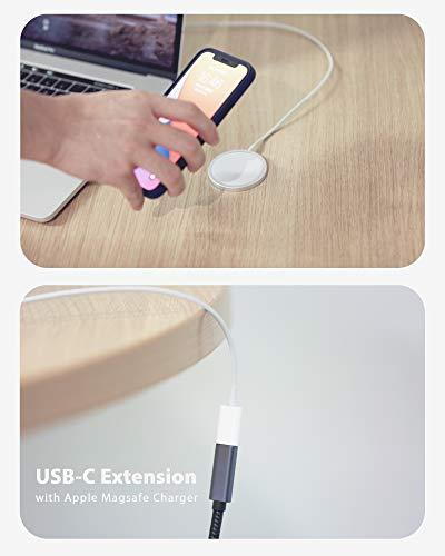 Belkertech USB C-Verlängerungskabel Typ C-Stecker auf Buchse Verlängerungskabel USB 3.1 (5 Gbps) Laden/Synchronisieren / 4K Video/Audio Verlängerungskabel für MacBook Pro 2016/2017 / 1.8M