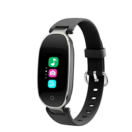 LOO LA Intelligent polshorloge, waterdicht, frequentiemeter, stappen, detectie van de slaap, waterdicht, voor dames, smart-armband, kleurendisplay, bluetooth, test voor Android en iOS, grijs