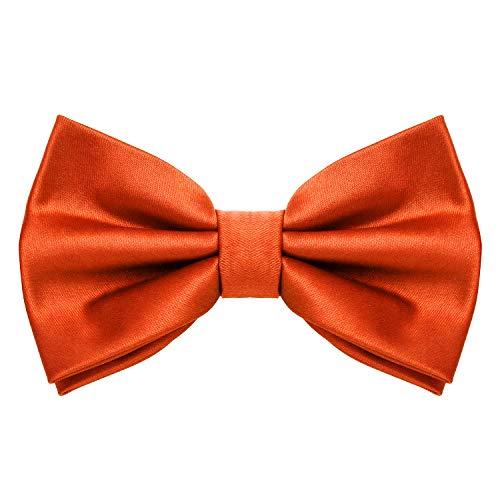 MASADA Papillon arancione - Accessorio da uomo, regolabile in modo continuo, fatto a mano...