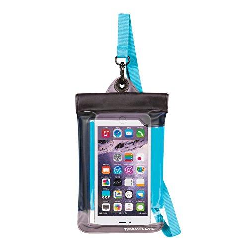 Travelon Floating Waterproof Smart Phone/Digital Camera Pouch, Blue